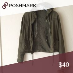 Brandy Melville Hailey jacket Super cute, no rude comments, no trades or holds or you'll be blocked! Price firm! Cheaper on Ⓜ️ and 🅿️🅿️. Brandy Melville Jackets & Coats Utility Jackets