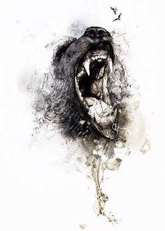 Tattoo. Sketch. Bear.