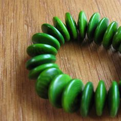 25 Avocado Green Tagua Nut Beads 11mm Rondell by EcoBeadsTagua, $5.00  <3<3<3 @