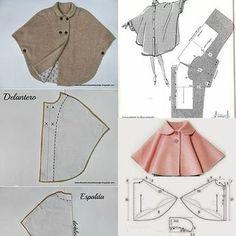 Best 12 Ponchos primavera – Page 24629129199058842 – SkillOfKing. Fashion Kids, Fashion Sewing, Diy Fashion, Hijab Mode, Costura Fashion, Diy Clothes, Clothes For Women, Sewing Blouses, Baby Dress Patterns