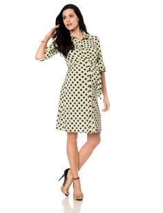 $70 on sale A Pea In the Pod ... LAUNDRY by Shelli Segal Elbow Sleeve Sash Belt Maternity Dress