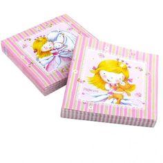 Les serviettes pour une fête anniversaire princesses