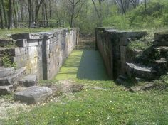 Old Erie canal lock off the bike path between Tipp City & Troy, Ohio