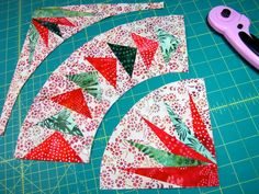 Free Easy Quilt Block Patterns | The above photo is the three different components in the quilt. All ...