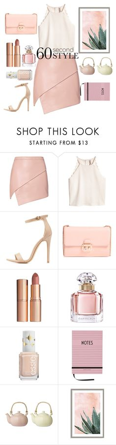 """com pressa"" by thais-santana-1 ❤ liked on Polyvore featuring Michelle Mason, Charlotte Russe, Ted Baker, Charlotte Tilbury, Guerlain, Design Letters, Bloomingville, Art Addiction, asymmetricskirts and 60secondstyle"
