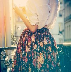 13) A patterned skirt. Ideal hem lengths vary for everyone, but avoid an extreme mini skirt. This could be dressed up for drinks or dressed down for every day.