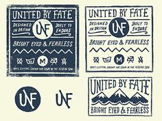 Dribbble - United By Fate - Branding by Jonathan Schubert