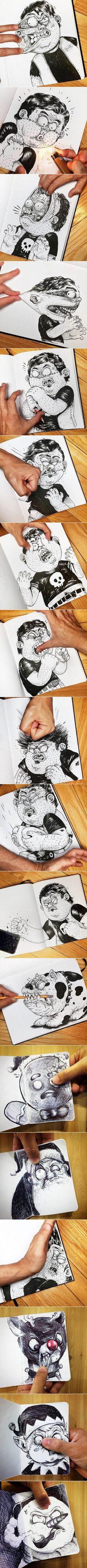 Zeichnungen, die sich mit ihrem Schöpfer anlegen | Webfail - Fail Bilder und Fail Videos