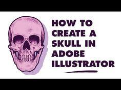 Tutorial: how to create a skull in Adobe Illustrator.