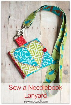 Learn how to sew a needlebook lanyard - perfect for all of your hand sewing projects! Never lose your pins or needles while hand stitching again.