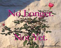 No Longer, Not Yet. www.maggybrown.com