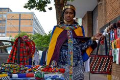 Traditional regalia in the heart of the city of Johannesburg