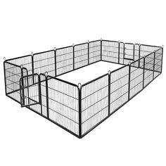 "(This is an affiliate pin) Giantex 40"" 16 Panel Pet Playpen with Door #DogFence Large Playpen, Dog Playpen, Puppy Kennel, Cat Exercise, Dog Area, Indoor Pets, Steel Panels, Dog Fence, Pet Dogs"