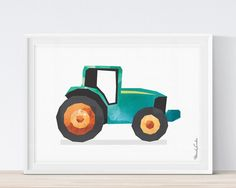 Tractor Printable Kids Transportation Art Play Room By Moriland