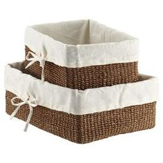 12 x 8 Goldenrod Lined Makati Baskets   The Container Store