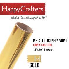 Iron on gold