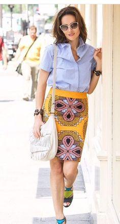 Adriana Abascal #fashion #fashionable #yellowskirt
