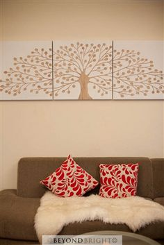 White Tree of Life Hand Carved Wall Art