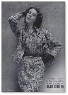 Pierre Cardin / L'Officiel de la Mode 1954 - Salon du Vintage, Paris - More on www.identitebook.com