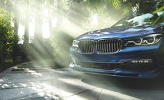 The BMW ALPINA B7 xDrive Sedan with the specially designed ALPINA front spoiler.