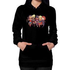super friends Hoodie (on woman)  #nfl #instagood #nerd #anime #comic #comiccon #nba #d4stor3pty