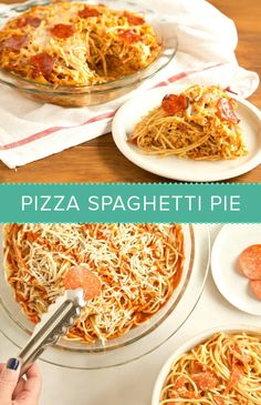 Pizza spaghetti pie is a comfort recipe that the kids will love. It's an easy dinner idea.