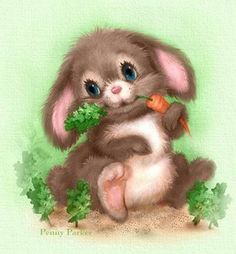 Bunny ~ Penny Parker ♥ღ Bunny Images, Cute Images, Cute Pictures, Bunny Art, Cute Bunny, Child Draw, Lapin Art, Penny Parker, Rabbit Art