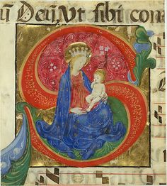 Manuscript Illumination with the Virgin and Child in an Initial S, from an Antiphonary Master of the Franciscan Breviary (Italian, active Lombard, ca. 1440–60) Date: mid-15th century Geography: Made in Lombardy, Italy Culture: Italian