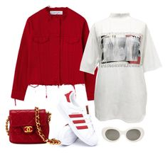 Untitled #598 by annap-style on Polyvore featuring polyvore, fashion, style, M.Y.O.B., adidas, Chanel, Acne Studios and clothing