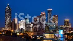 The view of the northwest side of Atlanta Georgia. Atlanta Georgia, North West, New York Skyline, Royalty Free Stock Photos, Travel, Image, Voyage, Viajes, Traveling