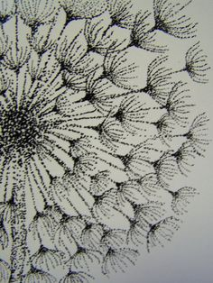 Dandelion Stippling Print P57 | Etsy Stippling Tattoo, Stippling Drawing, Art Sketches, Art Drawings, Tattoo Drawings, Tattoos, Charcoal Art, Wedding Frames, Learn To Paint