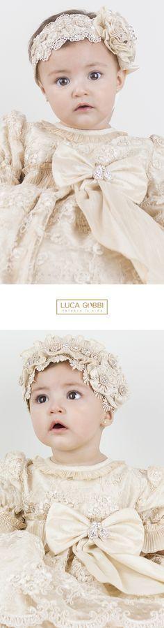 P16 ropón de bautizo (kit completo) Baby Girl Baptism, Christening Gowns Girls, Baptism Dress, Little Girl Dresses, Flower Girl Dresses, Little Princess, Blessing Dress, Baby Headbands, Baby Dress