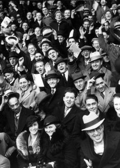 Fans at Tiger's opening day against Chicago in 1935