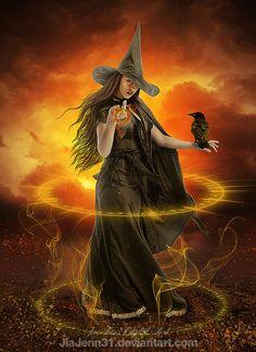 Walking Witch by JiaJenn31 on deviantART