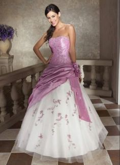 Elegant Image Detail For Light Purple Wedding Dressprom Gown Size With White And Dresses