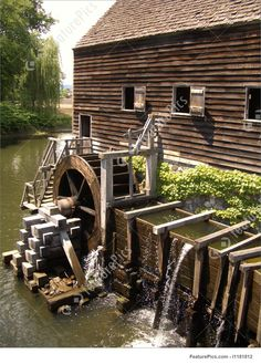 Water Mill From Colonial Times Royalty-Free Stock Picture