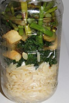 http://fashion.mediahurl.com . Roasted Vegetable Orzo (and my first mason jar meal!) | via Tumblr recipes,  vegetables
