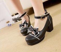 Japanese Fashion Lolita Kawaii Anime Cosplay Shoes - OtakuForest.com