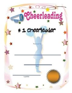 Cheerleading certificate ideas google search cheer stuff cheerleading fill in and print calendars printable award certificates yadclub Gallery