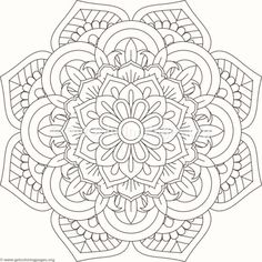 Flower Mandala Coloring Pages #25