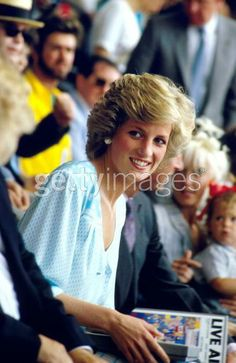 "July 13, 1985: Princess Diana at the ""Feed the World"" Live Aid concert at Wembley Stadium."