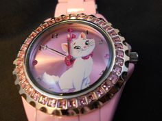 Disney Watch Aristocat cat  Rhinestone Pink Aristocats New #Disney #Casual