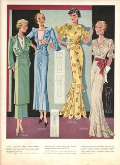 Polish catalog (or magazine) of woman dresses from 30 thies