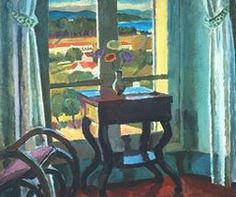 "Vanessa Bell, ""Interior with Table"", 1921"