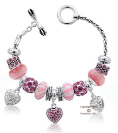 Love this DaVinci bracelet with the heart dangles.