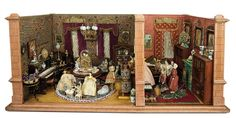 Bread and Roses - Auction - July 26, 2016: lot #101 Early German Richly Furnished Dollhouse Rooms of the Biedermeier Era