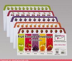 Fruit-flavored envelopes