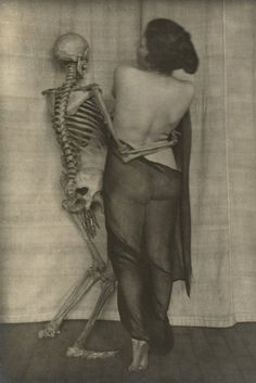 Part of Fool Death, My Playmate, a 1920s photography series by Franz Fiedler