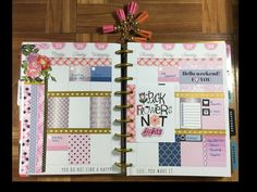 Plan with me, happy planner August 22-28-Garnet