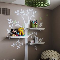 Most do-able diy tree bookshelf For Suzi!